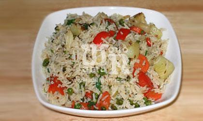 ارز البسمتى بالمشروم والخضار